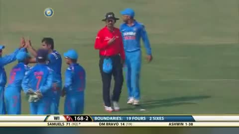 India vs West Indies - 3rd ODI - West Indies Fall of wickets - scored 263/5 in their 50 overs
