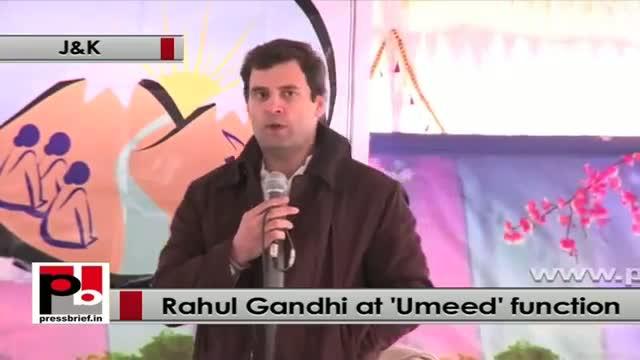 Rahul Gandhi in Jammu and Kashmir lauds SHG for women