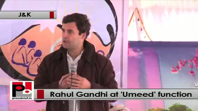 Rahul Gandhi at Jammu and Kashmir: UMEED programme will empower the women