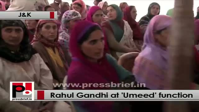 Rahul Gandhi at UMEED function in J&K bats for more women empowerment