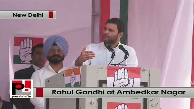 Rahul Gandhi in Delhi lists out development took place under Congress rule