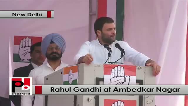 Rahul Gandhi in Delhi: Congress wants to empower aam aadmi along with development