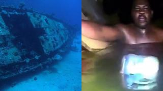 Man Found Alive In A Sunken Ship - Full Exclusive Video