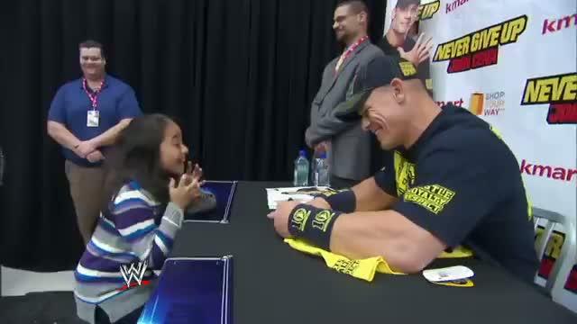 World's cutest John Cena fan suffers the world's cutest freak out