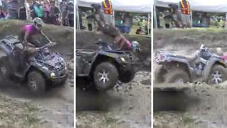 ATV Rider Goes Head Over Heels
