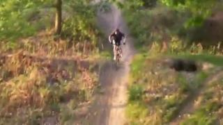 Mountain Biker's First Jump May Be His Last