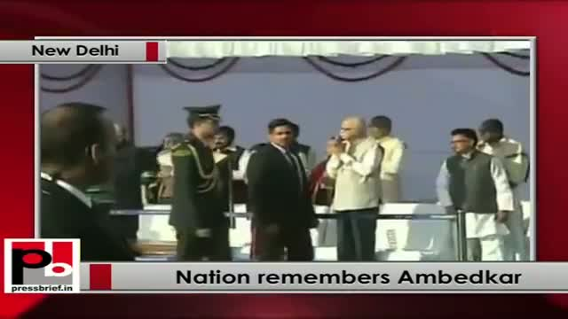 Prez, PM, Sonia Gandhi pay tribute to Ambedkar on his 58th death anniversary