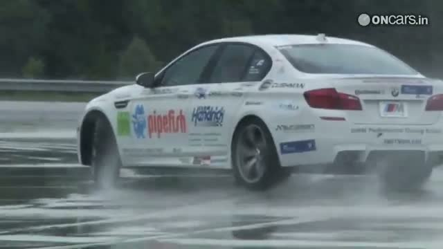 BMW's driving instructor set a world record for world's longest drift