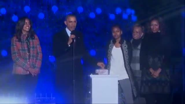 Obama Lights National Christmas Tree Video