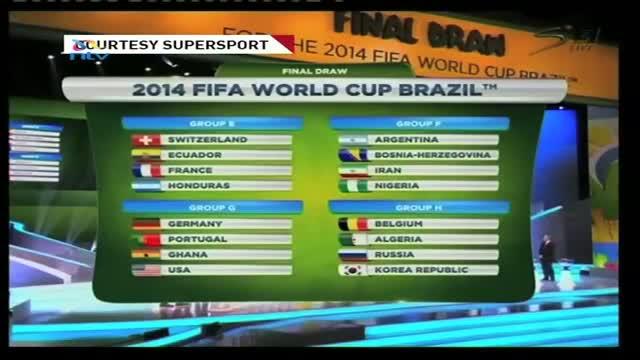 FIFA World Cup Draw: Nigeria draw Argentina, Iran & Bosnia in Group F