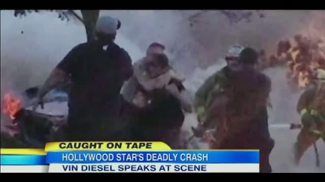 Paul Walker Dead: Vin Diesel Gets Emotional at Paul Walker Crash Site