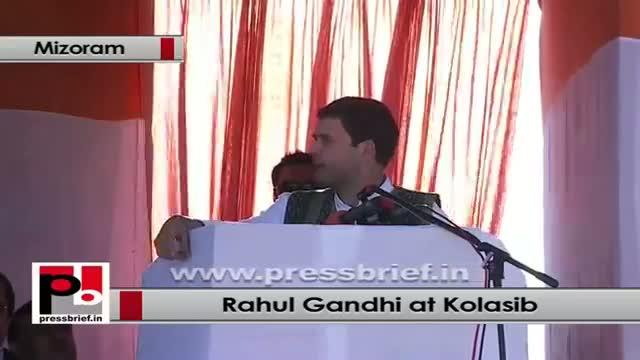 Rahul Gandhi: Our government has special focus on roads in Mizoram