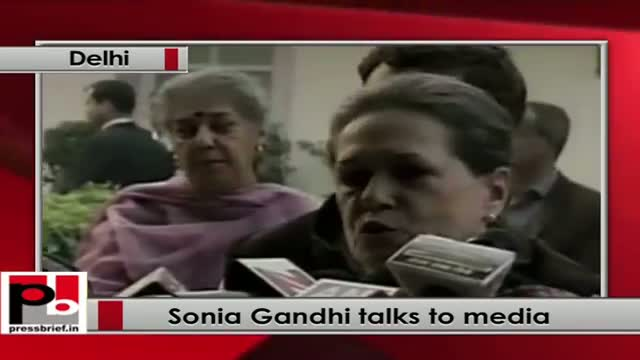 Assembly polls results: Sonia Gandhi talks to media
