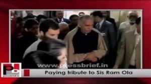 Sonia Gandhi, Rahul Gandhi Pay tribute to Sis Ram Ola