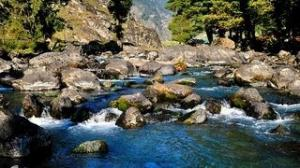 Beautiful Mountain Waterfall Pahalgam Kashmir India 2013 Full HD