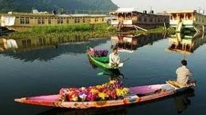 Dal Lake Srinagar Shikara Boat Ride Early Morning Kashmir India *HD* 2013