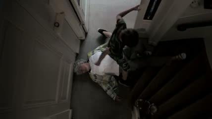 Oh Grandma! - Grandchild finds his grandma down the stairs