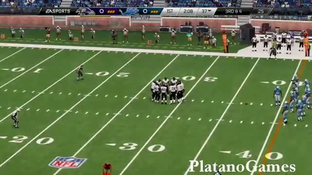 NFL 2013 MNF Week 15 - Baltimore Ravens vs Detroit Lions - 1st Qrt - Madden 25 PS4 - HD