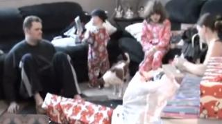 Kid Hits Dad With A DVD