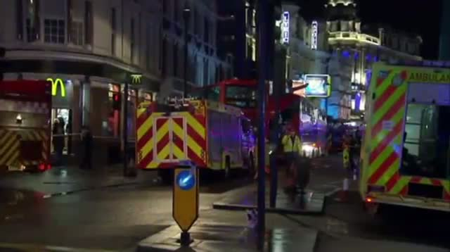 London Theater Balcony Believed Collapsed