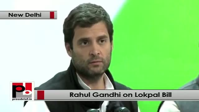 Rahul Gandhi: Congress party is fully committed to pass Lokpal Bill