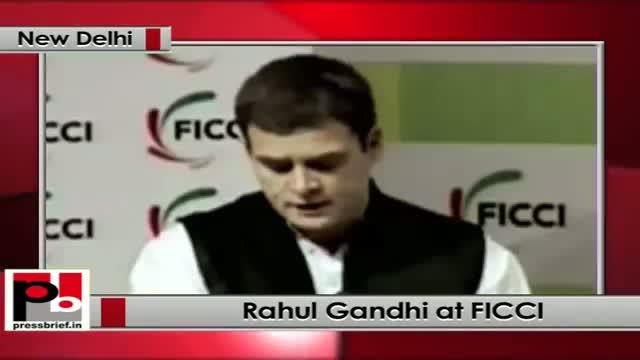 Rahul Gandhi at FICCI 86th AGM