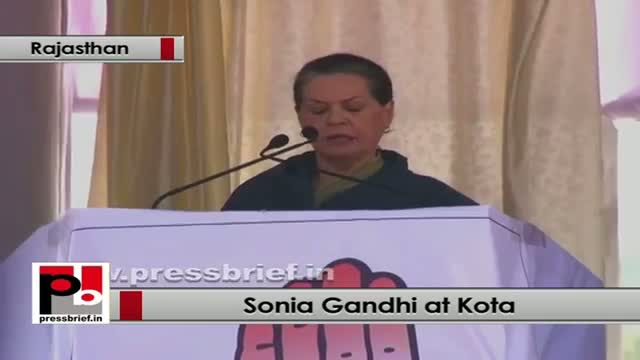 Sonia Gandhi in Rajasthan: It is BJP's approach which is poisonous, not our medicines