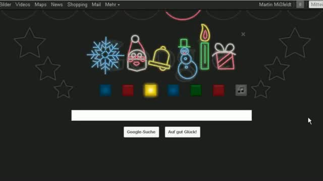 Happy Holidays - Xmas Google Doodle - Merry Xmas