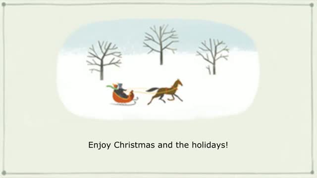 Happy Holidays Google Doodle 2013 On 25 DEcember 2013 - Merry Xmas 2013 & Happy New Year 2014