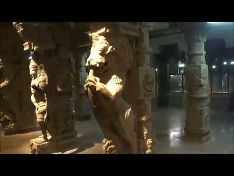 Madurai Thousand Pillar Hall Meenakshi Temple Ancient Stone Sculpture,India *HD*