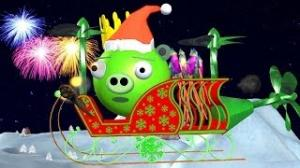 X-MAS & NEW YEAR 2014 Wishes By 3D Animated ANGRY BIRDS BAD PIGGIES Spoof