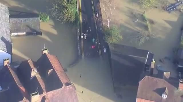 Aerials Show Widespread Flooding in UK