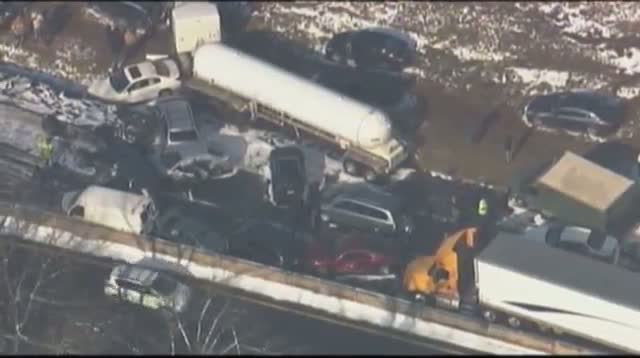 Pileups Block Turnpike, I-78 in Eastern Pa