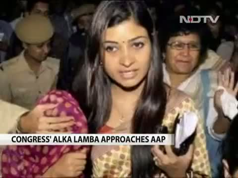 Video of Alka Lamba, Former Student Leader, Quits Congress to Join AAP
