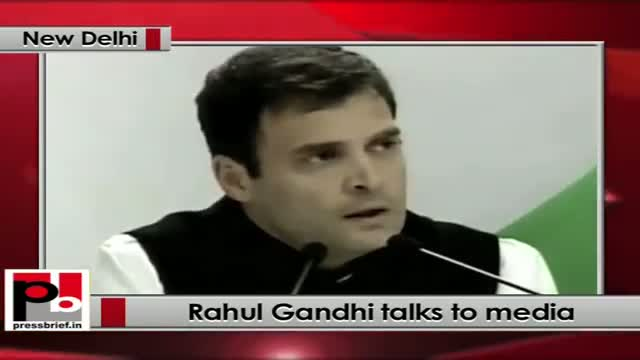 Rahul Gandhi: The only issue is to build a framework against corruption