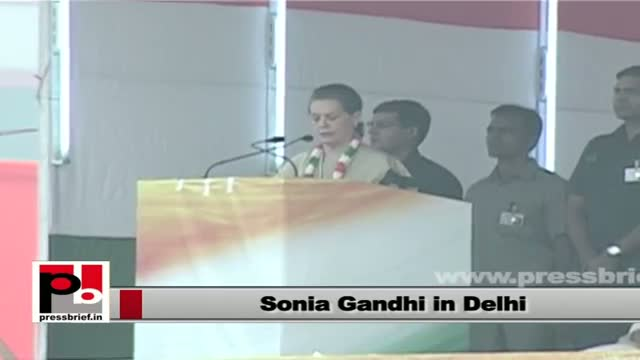 Sonia Gandhi: Congress has been working with honesty and dignity