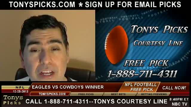 Philadelphia Eagles vs. Dallas Cowboys Pick Prediction NFL Pro Football Odds Preview 12-29-2013