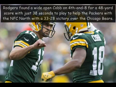 Aaron Rodgers leads Green Bay Packers past Chicago Bears - into playoffs.