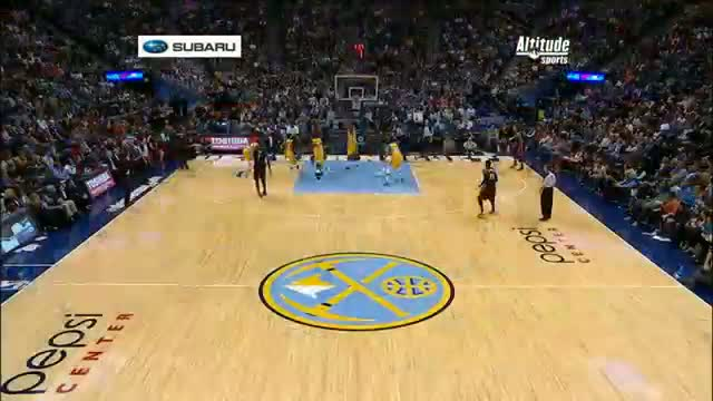 NBA: Wilson Chandler Finishes with the Explosive One-Handed Oop
