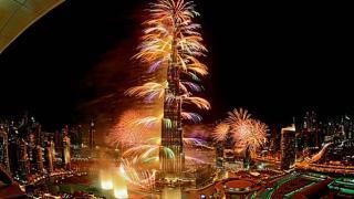 Burj Khalifa, Dubai 2014 Fireworks