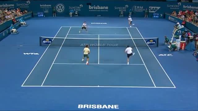 Rojer and Tecau v Federer and Mahut - Highlights Men's Doubles Round 1: Brisbane International 2014