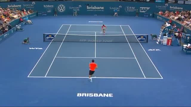 Grigor Dimitrov v Marin Cilic - Highlights Men's Singles Round 2: Brisbane International 2014