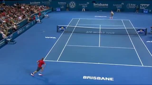 Roger Federer v Jarkko Nieminen - Highlights Men's Singles Round 2: Brisbane International 2014