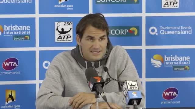 Roger Federer 2nd Round Press Conference - Brisbane International 2014
