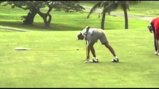Obama Plays Golf During Hawaii Vacation