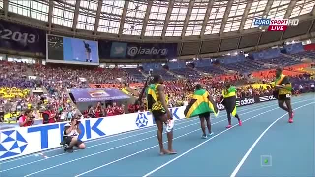Usain Bolt 4x100 Meter Relay Mens Final IAAF World Championships Moscow 2013