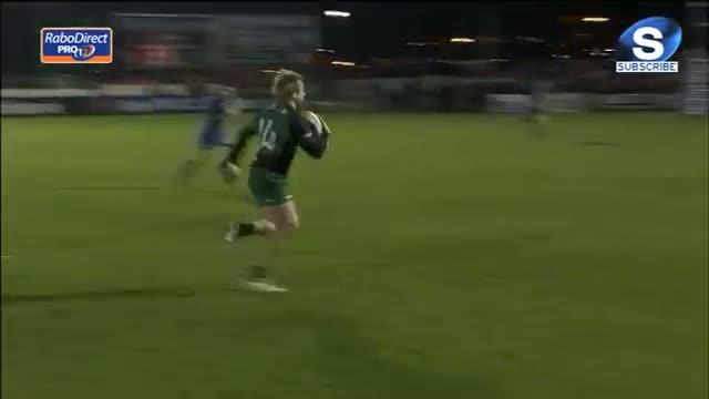 Fionn Carr Try Connacht v Leinster 4th January 2014