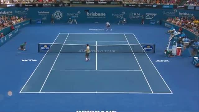 Roger Federer v Jeremy Chardy - Highlights Men's Singles Semi Finals: Brisbane International 2014