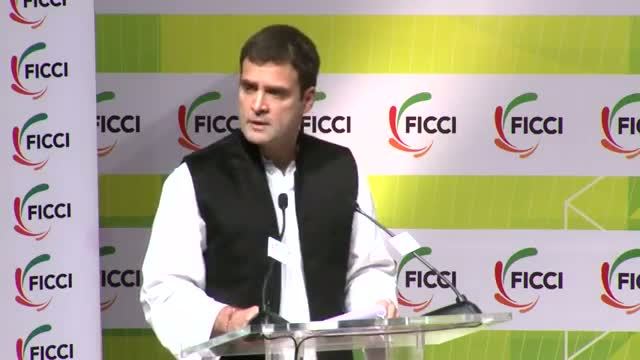 Rahul Gandhi advocates India becoming the global leader in manufacturing during his address at FICCI