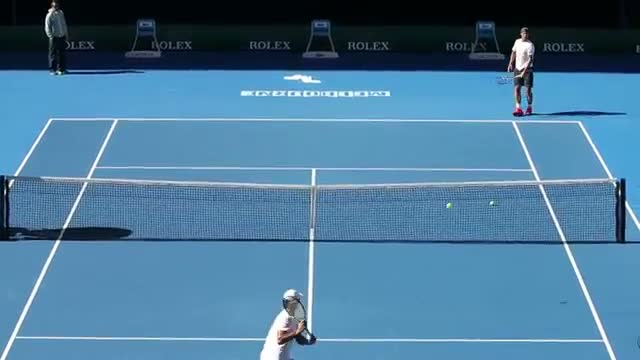 Rafa Nadal & Fernando Verdasco Practice Session